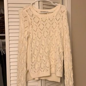 LOFT Open Knit Sweater // M